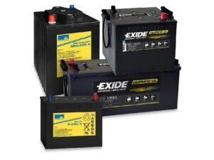 Gruppenbild mit 4 GEL Versorgungsbatterien
